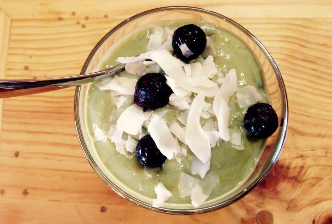 Green yogurt matcha