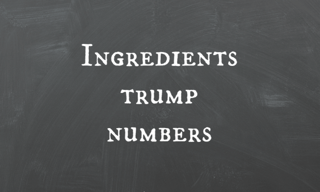 Ingredients Trump Numbers