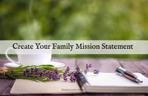 Create your family mission statement image